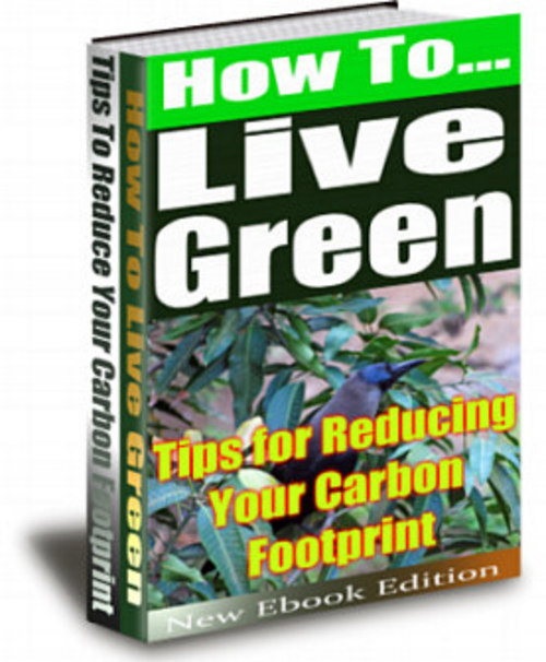 Product picture How to Live Green Tip for Reducing Your Carbon Footprint