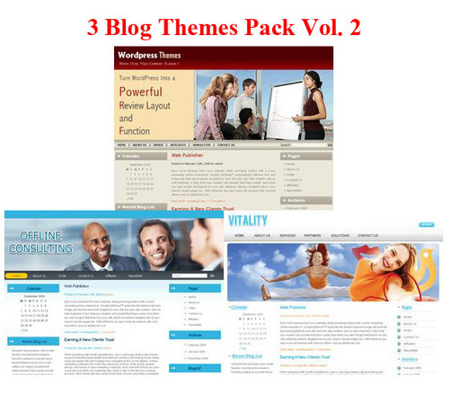 Product picture **HOT** 3 Blogs Themes Pack (PLR)
