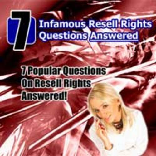 Product picture *Top Sale* 7 Infamous Resell Rights Questions Answered