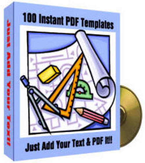 Product picture **BRANDED** 100 Instant PDF Templates