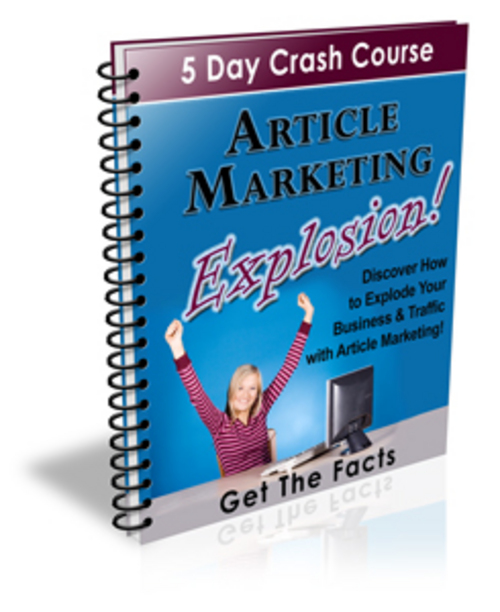 Product picture **Brand-New** Article Marketing Explosion 5 Day Course